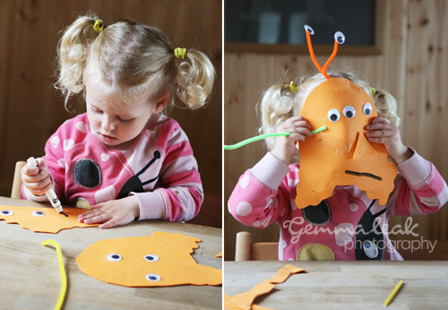 Rosie's favourite craft was the alien mask making