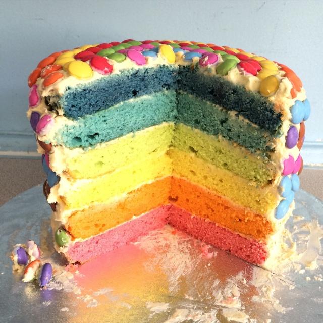 Ruby's rainbow cake
