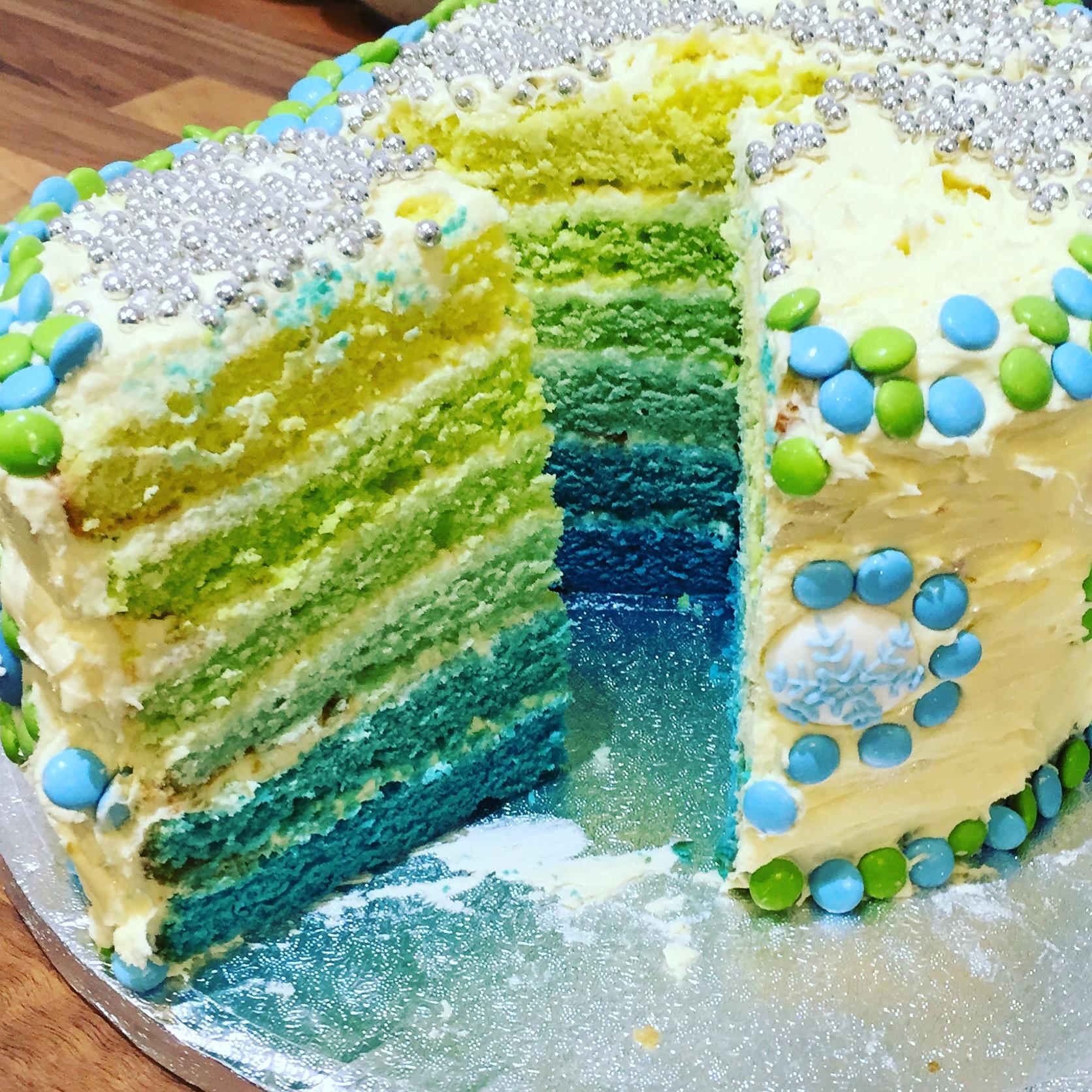 Frozen Rainbow cake | Rosie & Ruby love